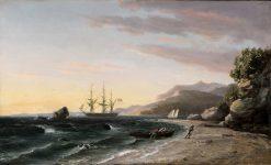 The USS Pennsylvania off Mount Desert Island