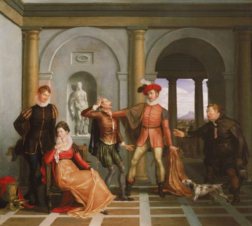 "Scene from Shakespeare's ""The Taming of the Shrew"" (Katharina and Petruchio) 