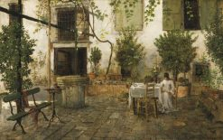 Courtyard in Venice | William Merritt Chase | Oil Painting