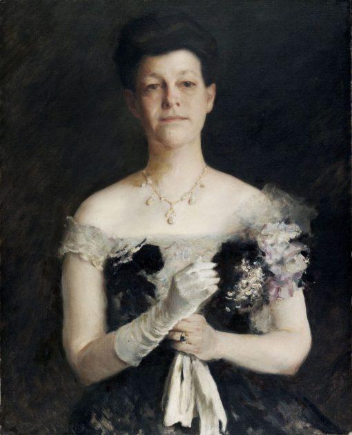 Portrait of Lavinia Borden Cook | William Merritt Chase | Oil Painting