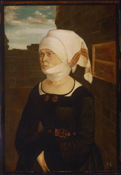 Portrait of Margaret Hundertpfundt | Wolf Huber | Oil Painting