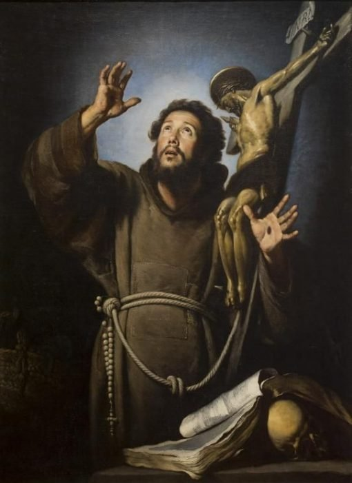 St Francis in Ecstasy   Bernardo Strozzi   Oil Painting