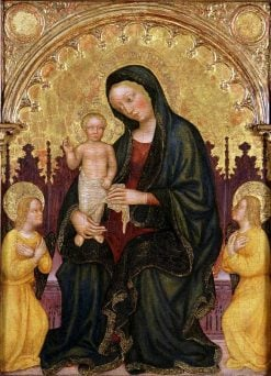 Enthroned Madonna and Child with Two Angels | Gentile da Fabriano | Oil Painting
