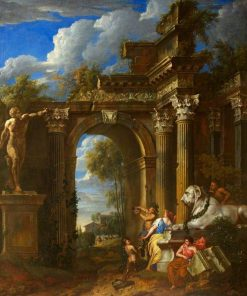 A Ruined Classical Archway | Jan Baptist Huysmans | Oil Painting
