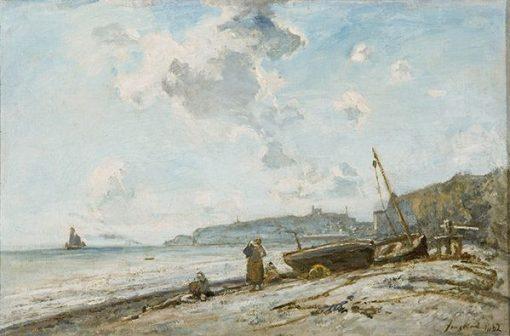 Beach at Ste-Adresse | Johan Barthold Jongkind | Oil Painting