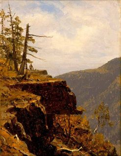 A Sketch of a Crag in the Catskills | Sanford Robinson Gifford | Oil Painting