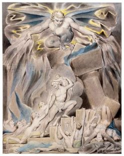 Job's Sons and Daughters Overwhelmed by Satan | William Blake | Oil Painting