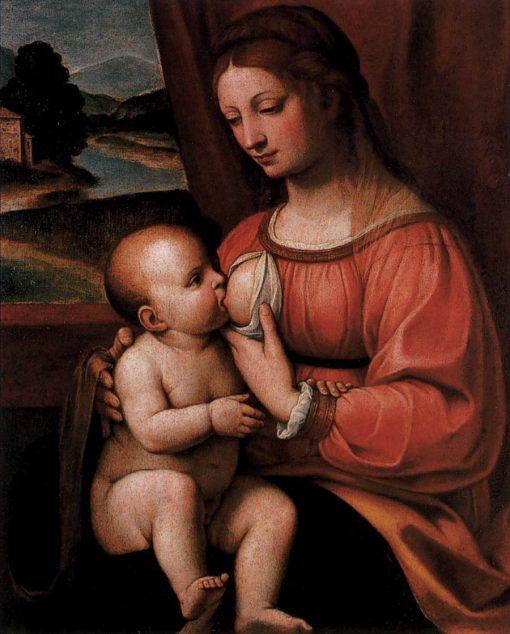 Nursing Madonna | Bernardino Luini | Oil Painting
