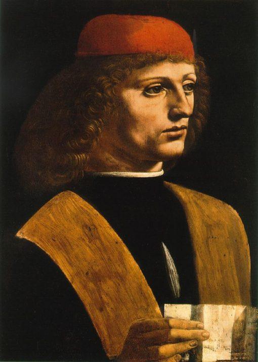 Portrait of a Musician | Giovanni Ambrogio de Predis | Oil Painting