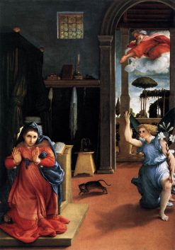 Annunciation | Lorenzo Lotto | Oil Painting