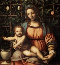 Madonna in the Rose Garden | Bernardino Luini | Oil Painting
