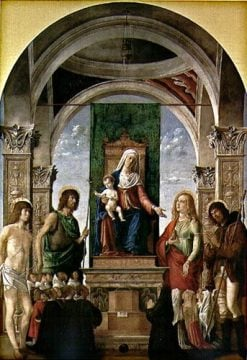 Virgin and Child Enthroned with Saints Sebastian