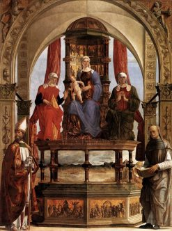 Madonna with Child and Saints | Ercole de' Roberti | Oil Painting