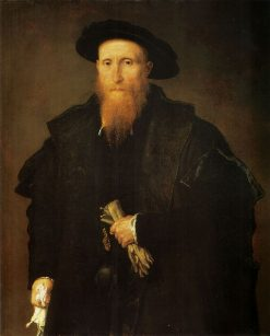 Portrait of an Old Man with Gloves | Lorenzo Lotto | Oil Painting
