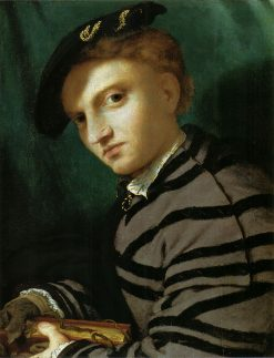 Portrait of a Young Man with a Book | Lorenzo Lotto | Oil Painting