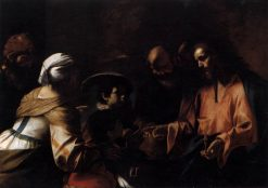 A Mother Entrusting Her Sons to Christ | Mattia Preti | Oil Painting