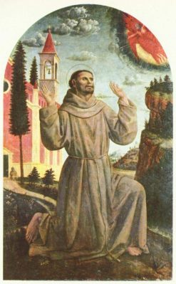 Saint Francis of Assisi Receiving the Stigmata | Vincenzo Foppa | Oil Painting