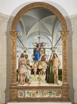 Madonna and Child Enthroned with Saints | Bartolomeo Montagna | Oil Painting