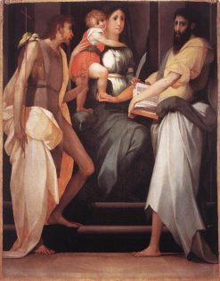 Madonna Enthroned between Two Saints | Rosso Fiorentino | Oil Painting