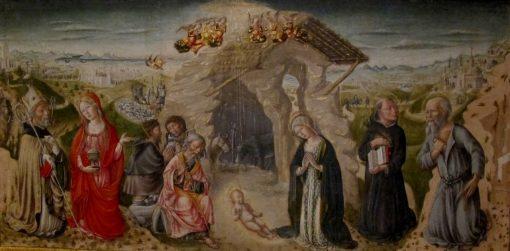 Adoration of the Shepherds | Andrea di Niccolò di Giacomo | Oil Painting