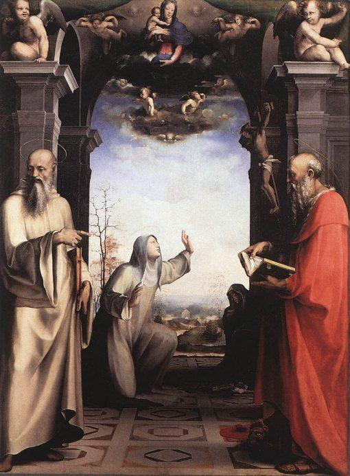Stigmatization of Saint Catherine of Siena | Domenico Beccafumi | Oil Painting