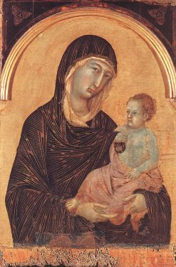 Madonna and Child (from Polyptych with Four Saints) | Duccio di Buoninsegna | Oil Painting
