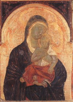 Madonna and Child from Polyptych No 47 (detail) | Duccio di Buoninsegna | Oil Painting