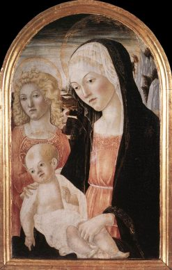 Madonna and Child with Angel | Francesco di Giorgio Martini | Oil Painting