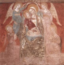 Madonna and Child with Angels | Francesco di Giorgio Martini | Oil Painting
