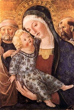 Madonna with Child and Two Saints | Francesco di Giorgio Martini | Oil Painting