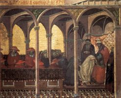 Approval of the New Carmelite Order by Pope Honorius IV (predella panel) | Pietro Lorenzetti | Oil Painting
