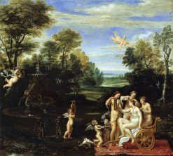 Landscape with the Toilet of Venus | Annibale Carracci | Oil Painting