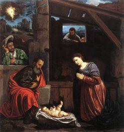 Adoration of the Shepherds | Giovanni Girolamo Savoldo | Oil Painting