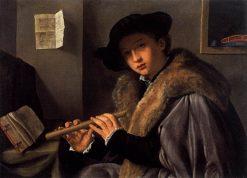 The Flute Player | Giovanni Girolamo Savoldo | Oil Painting