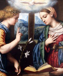 The Annunciation   Moretto da Brescia   Oil Painting