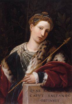 Portrait of Tullia d'Aragona as Salome | Moretto da Brescia | Oil Painting