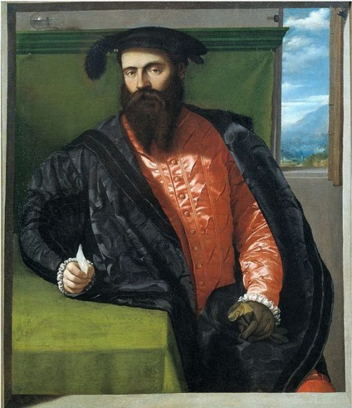 Portrait of a Gentleman with a Letter | Moretto da Brescia | Oil Painting