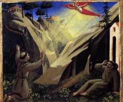 Saint Francis Receiving the Stigmata | Fra Angelico | Oil Painting