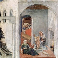 Birth of Saint Nicholas (Quaratesi Altarpiece) | Gentile da Fabriano | Oil Painting