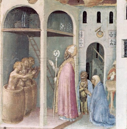 Saint Nicholas Saves Three Youths from the Brine (Quaratesi Altarpiece) | Gentile da Fabriano | Oil Painting