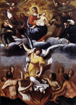 An Angel Frees the Souls of Purgatory | Lodovico Carracci | Oil Painting