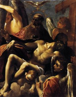 The Trinity with the Dead Christ | Lodovico Carracci | Oil Painting