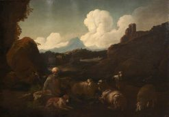 Peasant Attending Sheep | Jacopo Bassano | Oil Painting