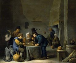 The Tric-Trac Players | David Teniers II | Oil Painting