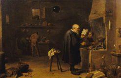 The Alchemist in His Laboratory | David Teniers II | Oil Painting