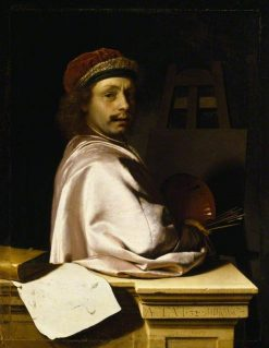 The Artist as Virtuoso at His Easel: Self Portrait Aged 32 | Frans van Mieris the Elder | Oil Painting