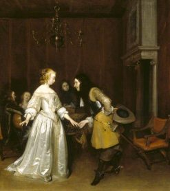 An Officer Making his Bow to a Courtesan | Gerard ter Borch | Oil Painting