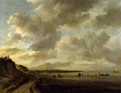 The Zuider Zee Coast near Muiden | Jacob van Ruisdael | Oil Painting