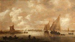 A River Estuary | Jan van Goyen | Oil Painting