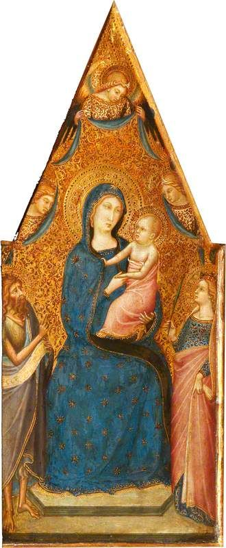 The Madonna and Child Enthroned with Three Angels
